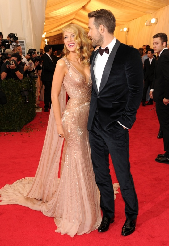 Blake Lively in Gucci Première and Ryan Reynolds in Gucci